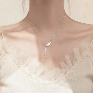 NEW 925 Sterling Silver Wing Necklace